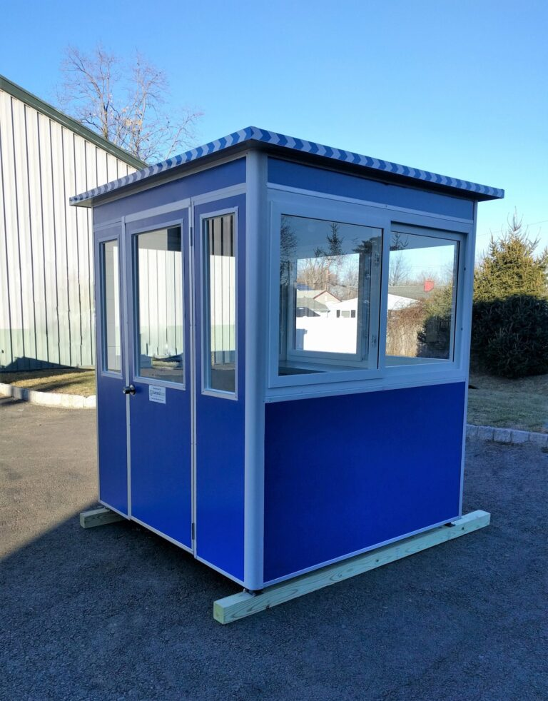 6x6 Airport Security Booth in Raleigh, NC with Sliding Windows, and Swing Door