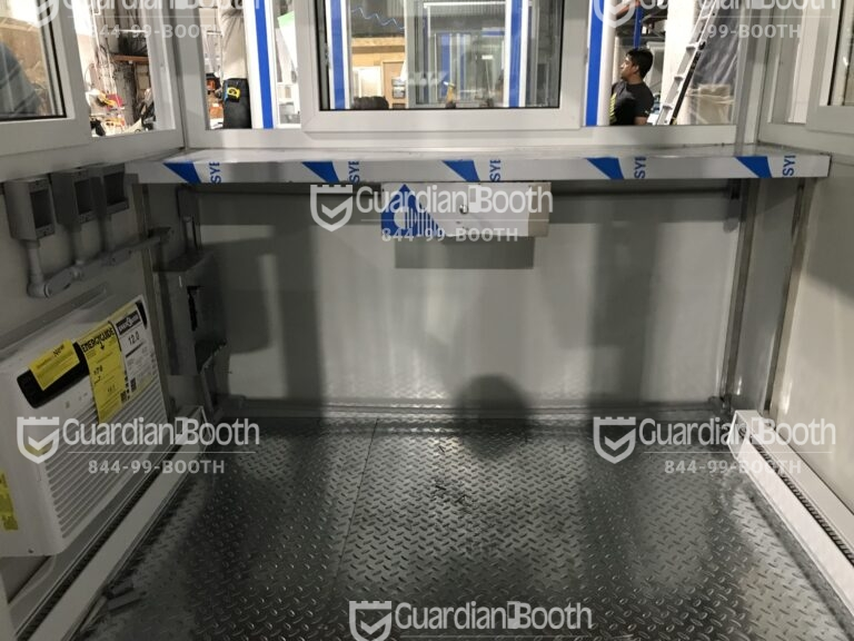 6x6 Booth with Add-on Features Built-in AC and Baseboard Heaters