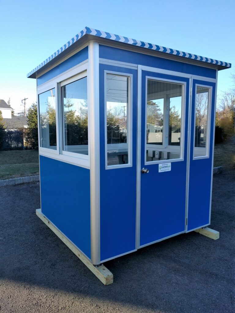 6x6 Security Guard Booth in Woodland Hills, CA with Breaker Panel Box and Swing Door