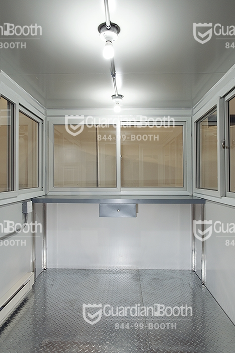 6x8 Booth with Add-On Features Baseboard Heaters