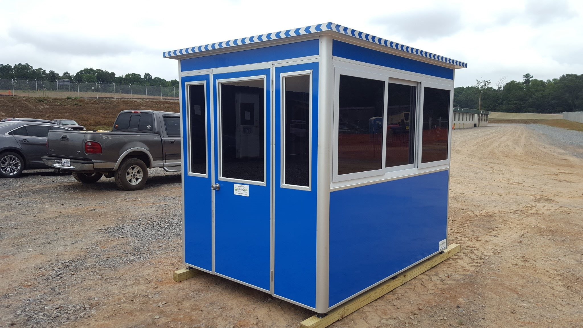 6x8 Construction Site Booth in Kings Mountain, NC with Tinted Windows, Built-in Ac, Baseboard Heaters, and Panel Box