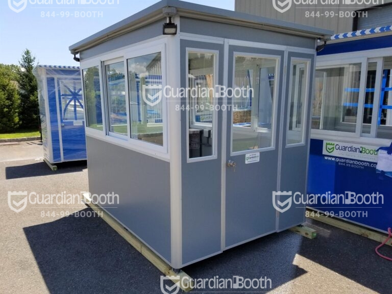 6x8 Security Guard Booth in Las Vegas, NV with Custom Exterior Color, Outside Spotlights and Anchoring Brackets
