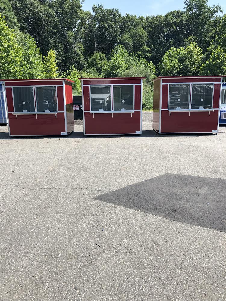 6x8  Ticket and Cashier Booths in Snohomish County, WA with Ticket Windows and Exterior Custom Vinyl Wrap