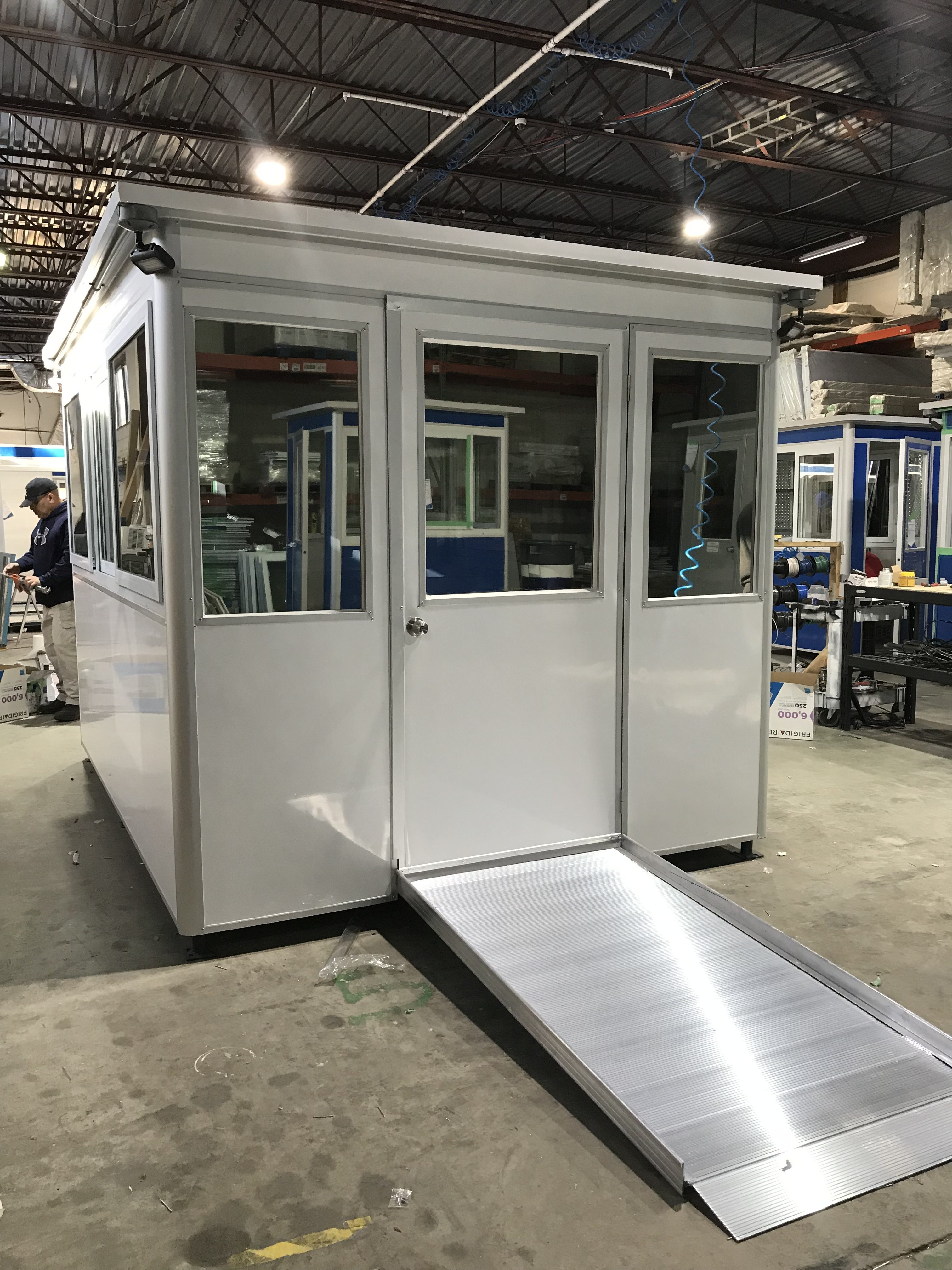 8x10 Booth with Add-On Feature  ADA Compliant Ramp and Exterior Custom Vinyl