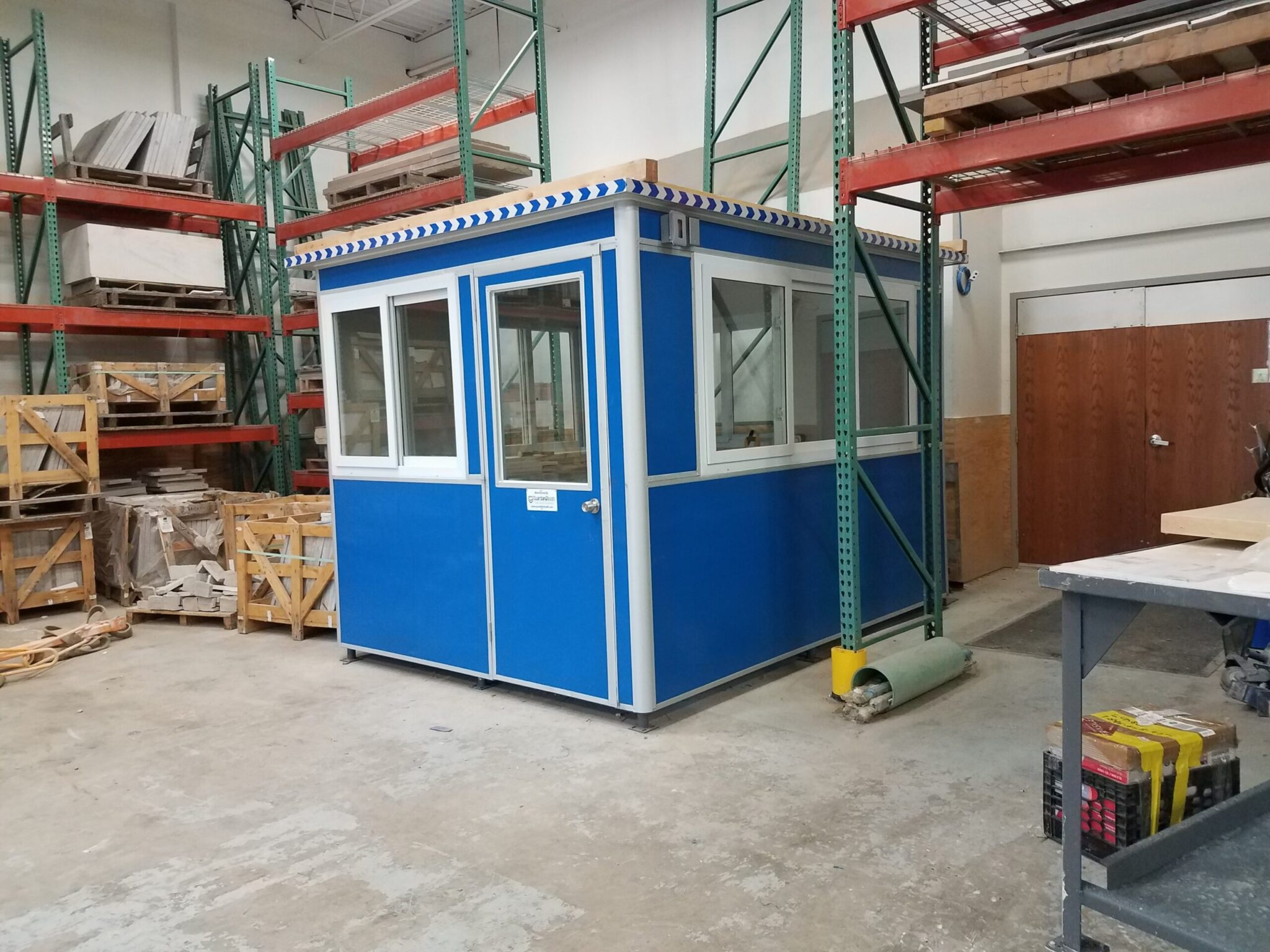 8x10 Modular Office in St Louis Park,MN with Sliding Windows, Baseboard Heaters,Built-in AC, Breaker Panel Box,Ethernet Port and Phone Line