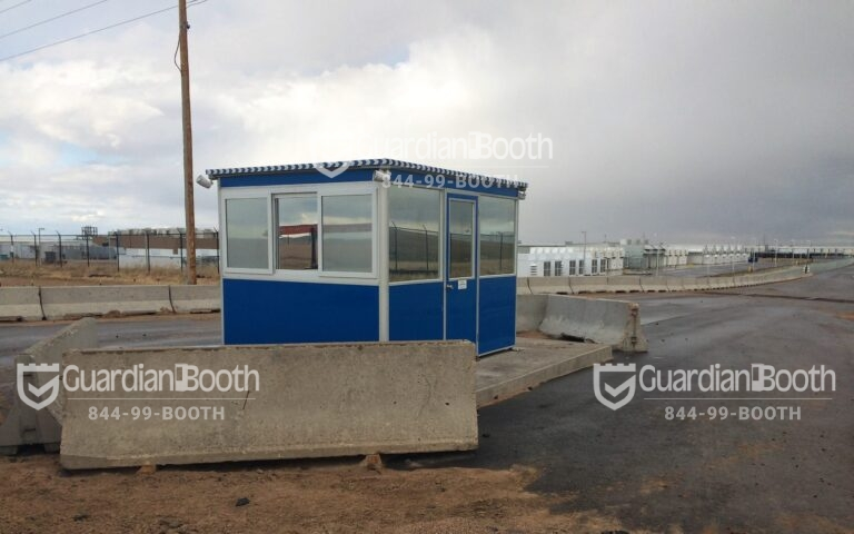 8x10 Security Guard Booth in Cheyenne, WY with Sliding Windows, Swing Door, and Baseboard Heaters