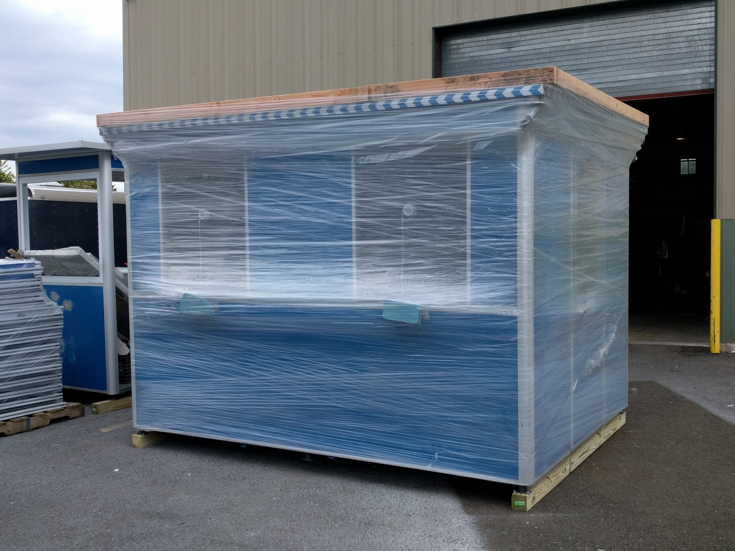 8x10 Ticket Booth ready for Delivery in Miramar, FL with Ticket Transaction Windows
