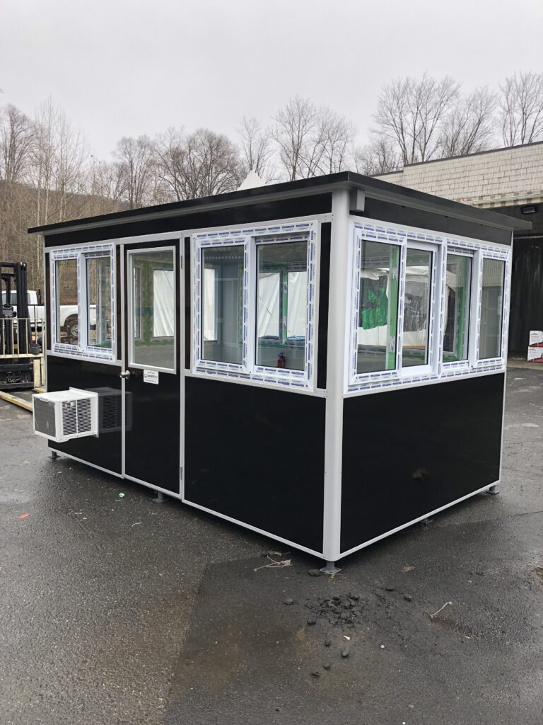 8x12 Parking Booth in Brooklyn, NY at iPark location with Custom Exterior Color, Swing Door, Built-in AC, and Breaker Panel Box