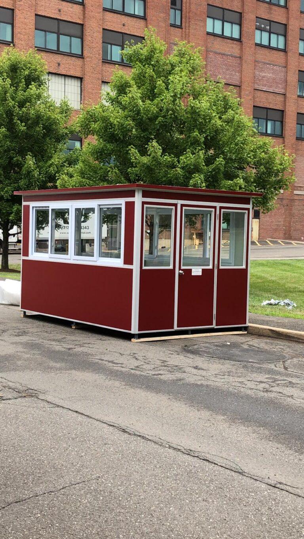 8x12 School Security Booth in Jacksonville, NC with Custom Exterior Vinyl Wrap