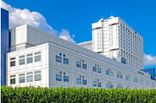 A white hospital complex