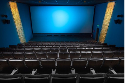 The inside of a movie theater