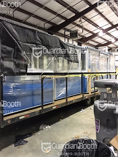 Trailer loaded for booth delivery