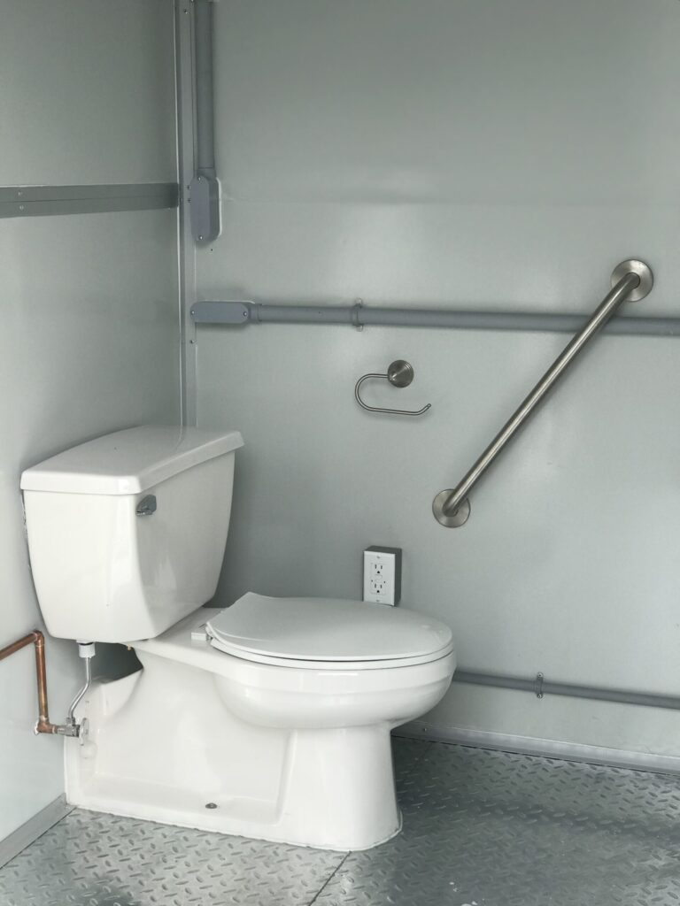 ADA Compliant Hand Rail, 8x10 in Construction Site Booth in  Annapolis, MD