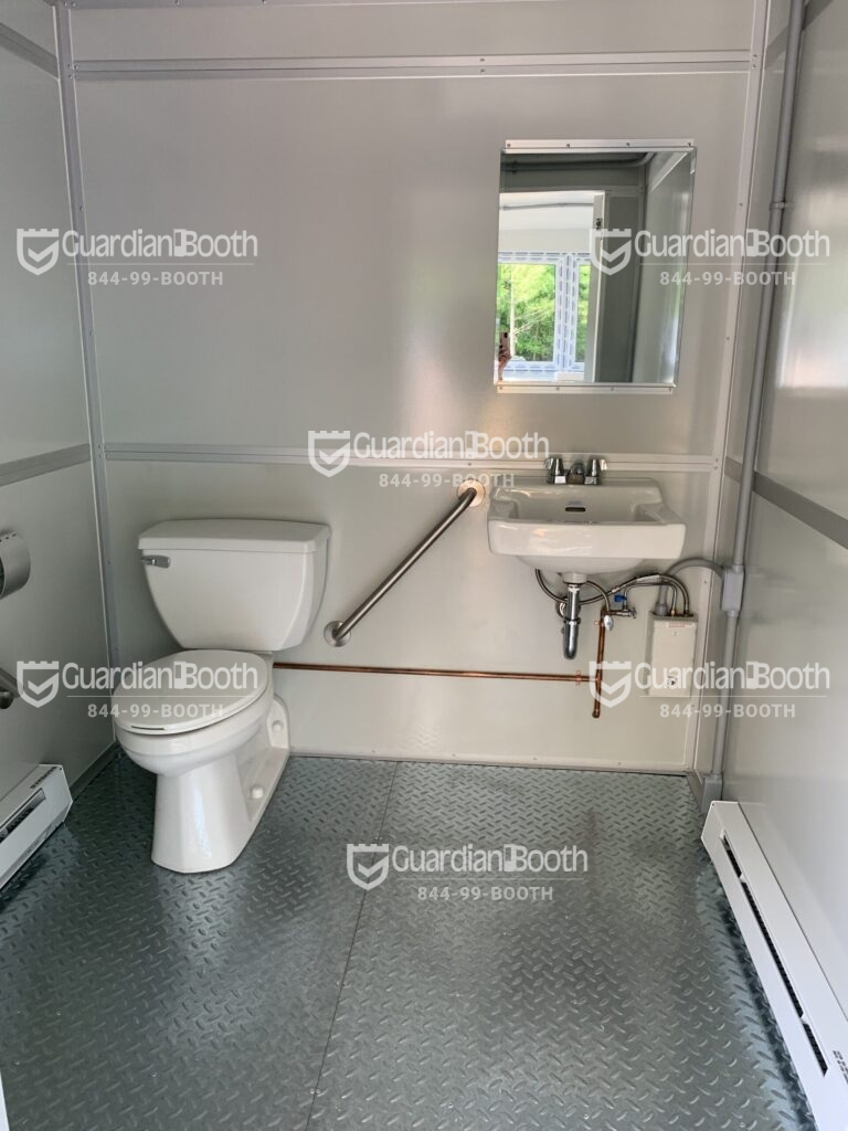 ADA Compliant Handrail in Restroom, 8x12 General Security Booth in Houston, TX