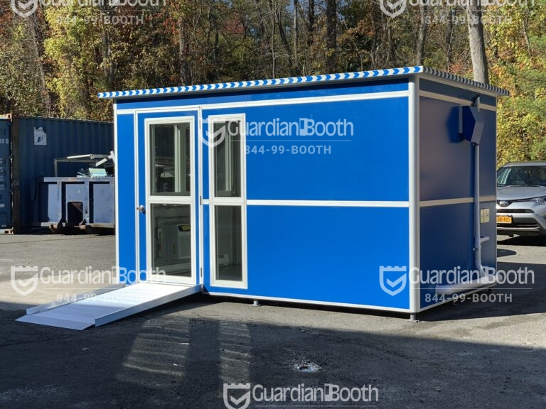 ADA Compliant Ramp, 8x12 General Security Booth in Annapolis, MD
