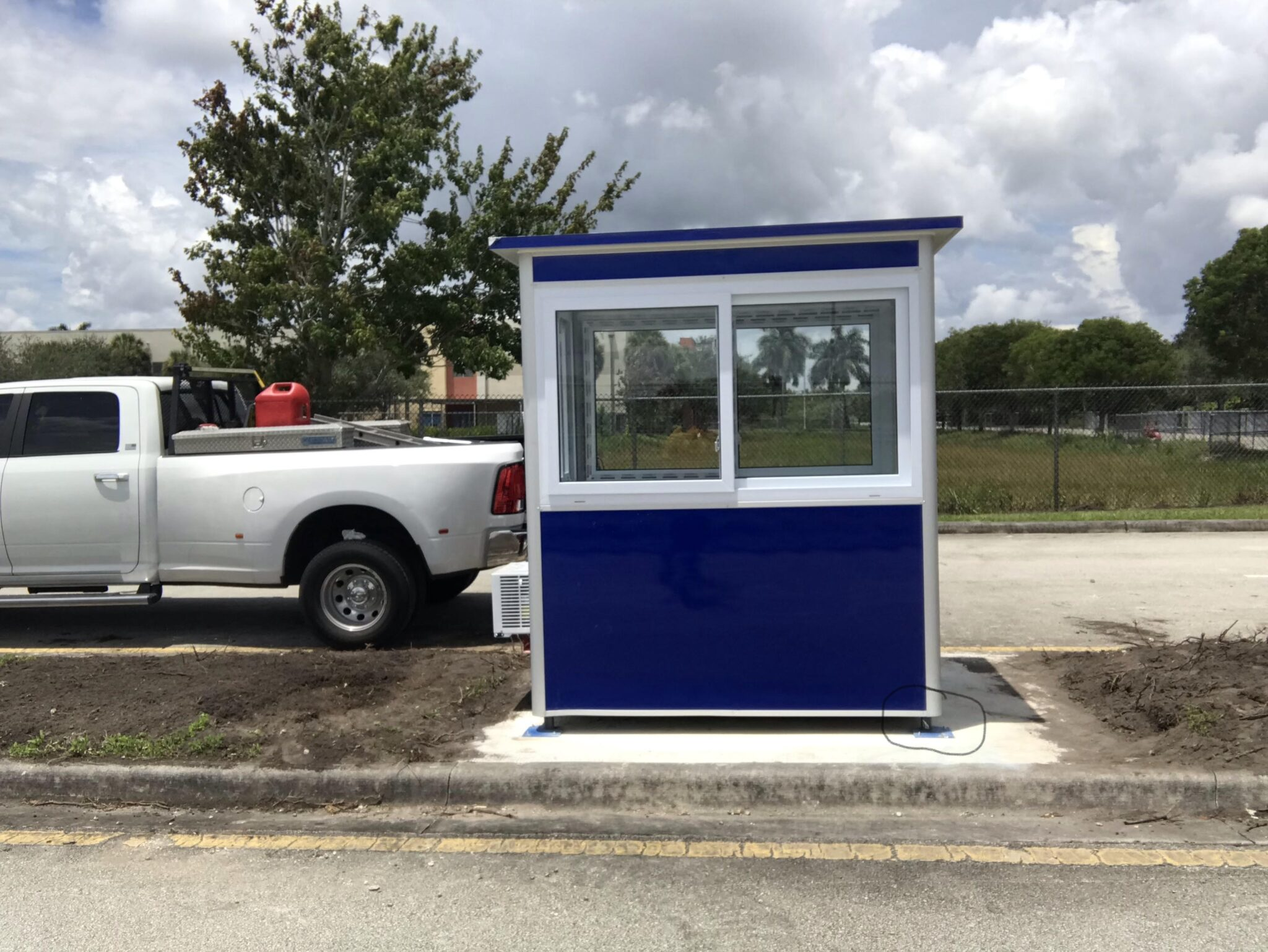 Anchoring Brackets, 4x6 Entrance Gate Booth in Chesapeake, VA