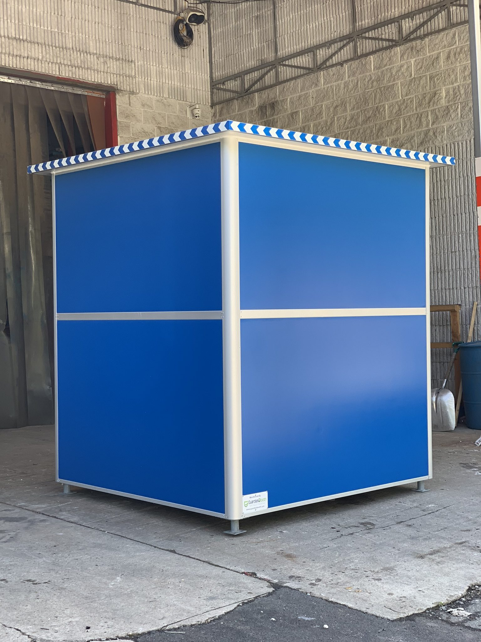 Anchoring Brackets, 6x6 Hospital Security Booth in Mobile, AL