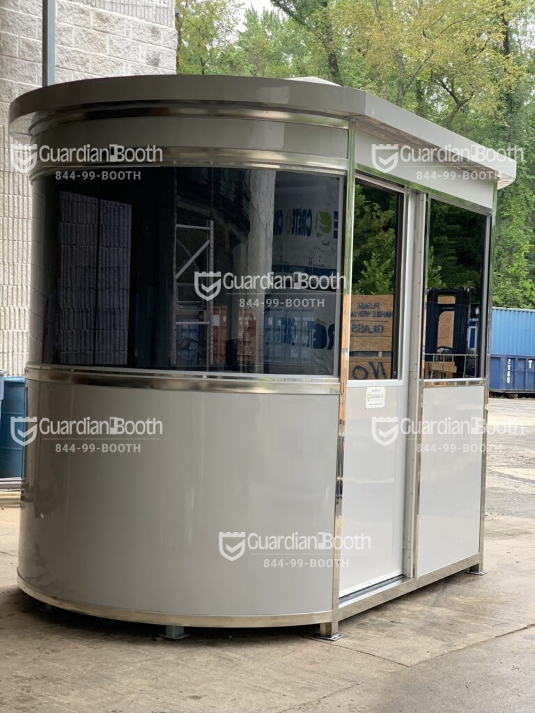 Anchoring Brackets, 6x9 Custom Airport Security Booth in Queens, NY