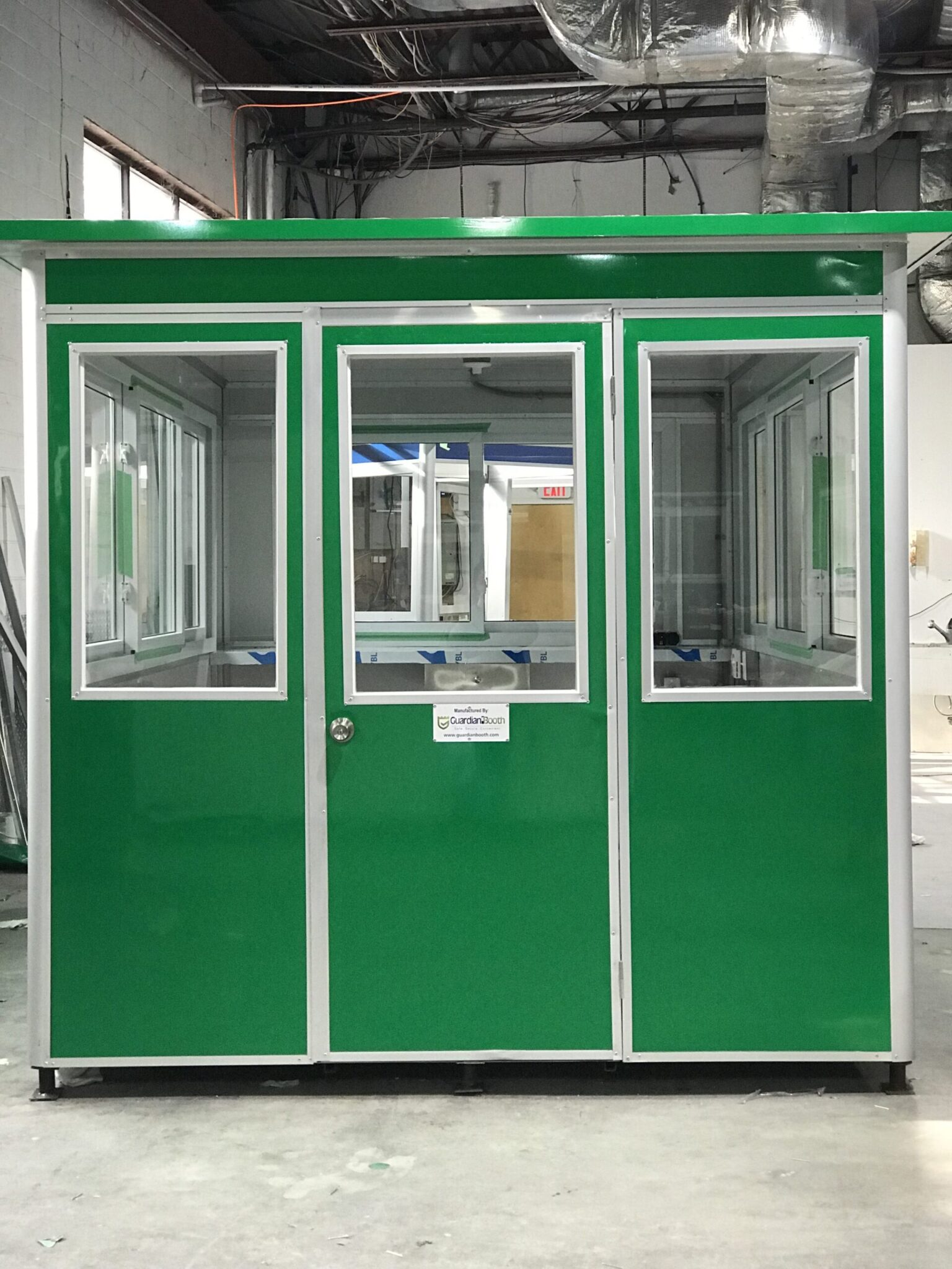 Color Kelly Green Wrap, 8x8 School Security Booth in Newark, NJ
