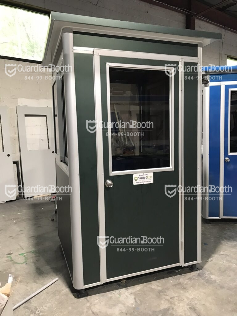 Color Matte Military Green Wrap, 4x4 Parking Lot Attendant Booth in Henderson, NV