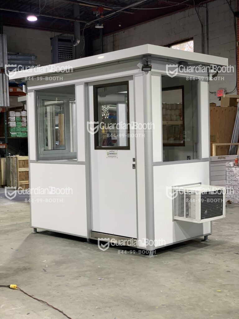 Color Matte White Luster Wrap, 4x6 Entrance Gate Booth in Del Mar, CA