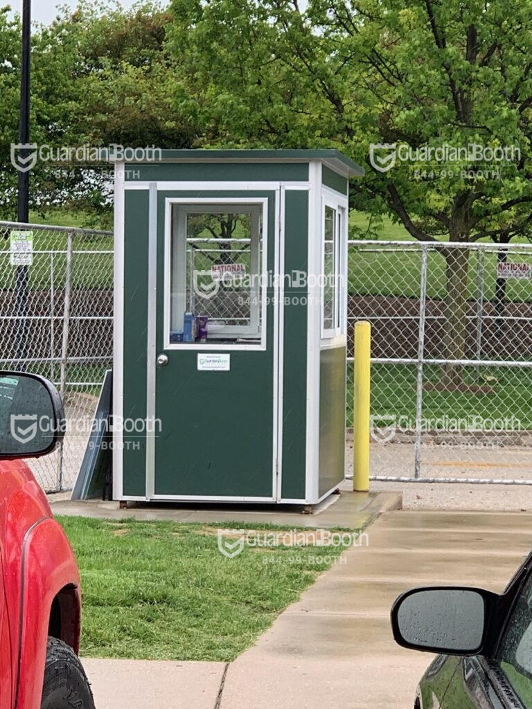 Color Military Green Wrap, 4x4 Parking Lot Attendant Booth in North Salem, NY