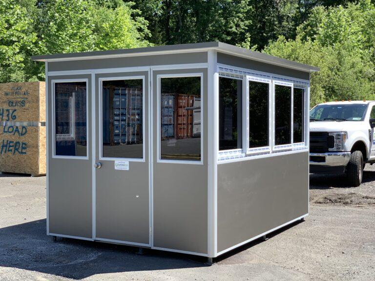 Custom Matte Silver, 8x8 School Security Booth in Parkland, FL