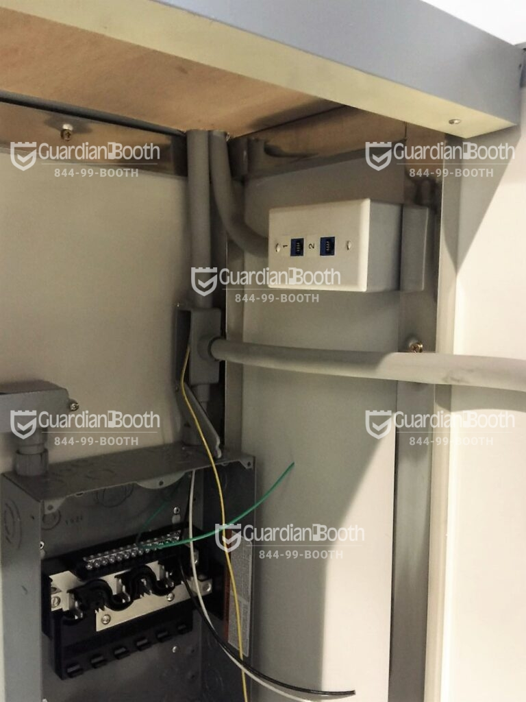 Data Port and Electric Panel Box, 4x6 Entrance Gate Booth in  Ft