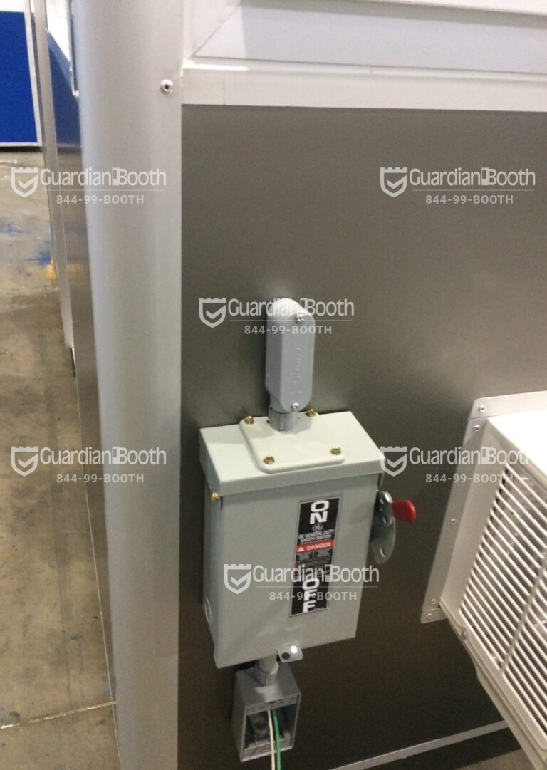 Exterior Electric Disconnect Switch, 4x6 Construction Site Booth in Rahway, NJ