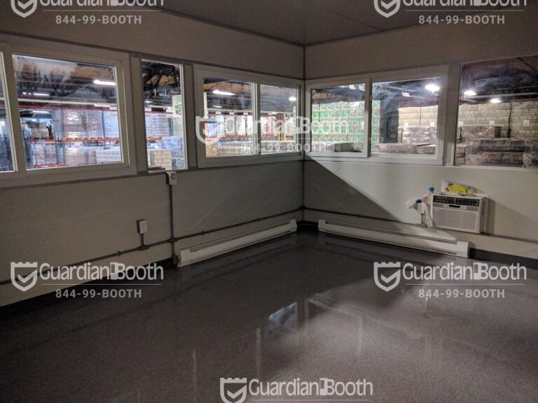 Heat and Air Conditioner, 14x20 Modular Office Booth in Brooklyn, NY