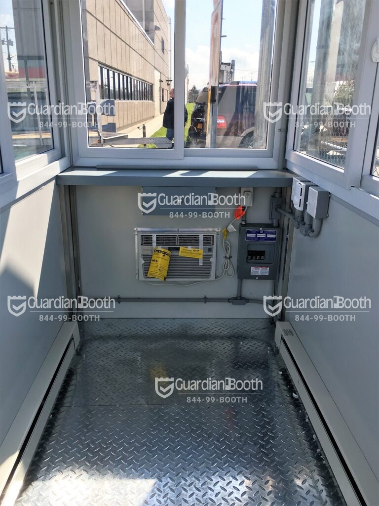 Heat and Air Conditioner, 4x6 Construction Site Booth in Brooklyn, NY