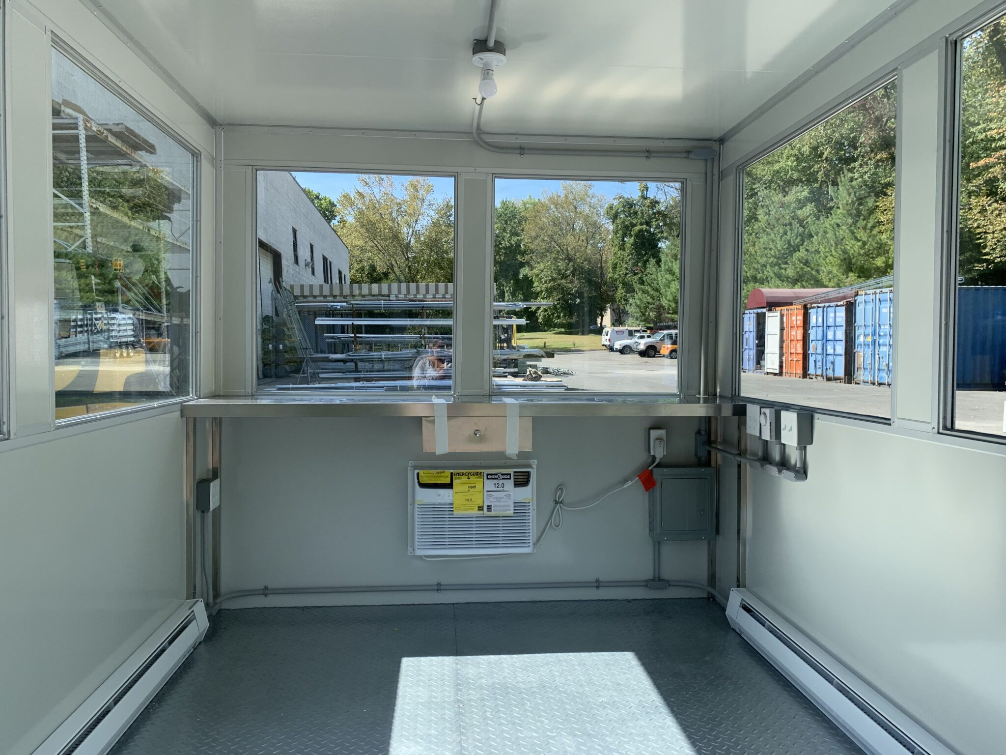 Interior Electric Panel Box, 8x12 Entrance Gate Booth in Annapolis, MD