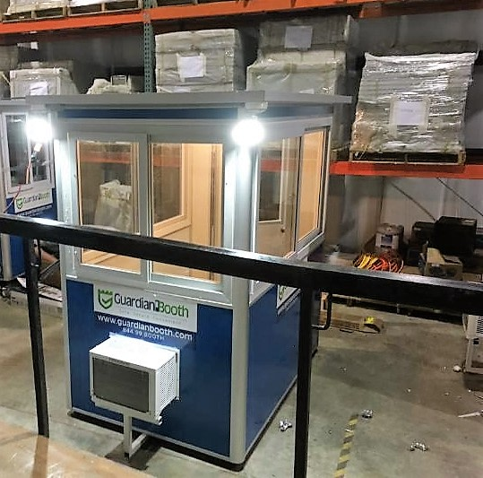Outside LED Spotlights, 4x4 Security Guard Booth in Londonderry, NH