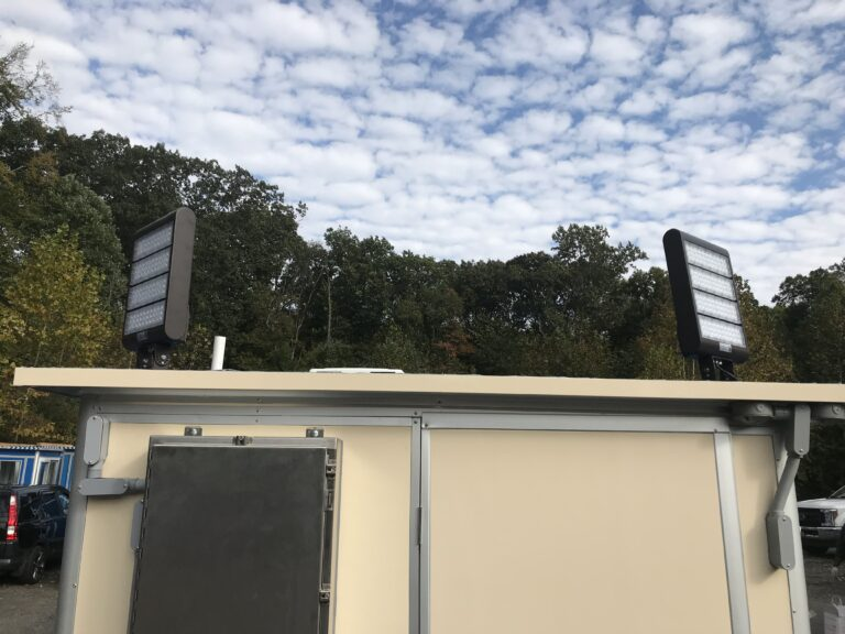 Roof Mounted LED Floodlights, 11x18 Entrance Security Guard Booth in Petawawa, ON 1