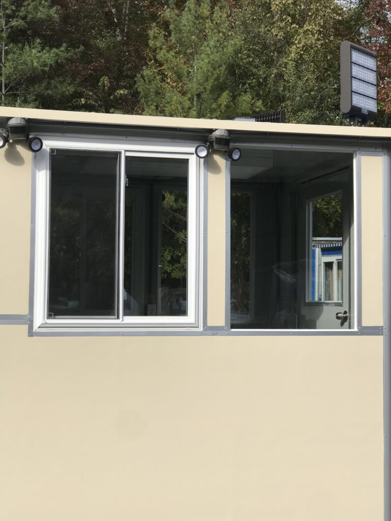 Roof Mounted LED Floodlights, 11x18 Entrance Security Guard Booth in Petawawa, ON