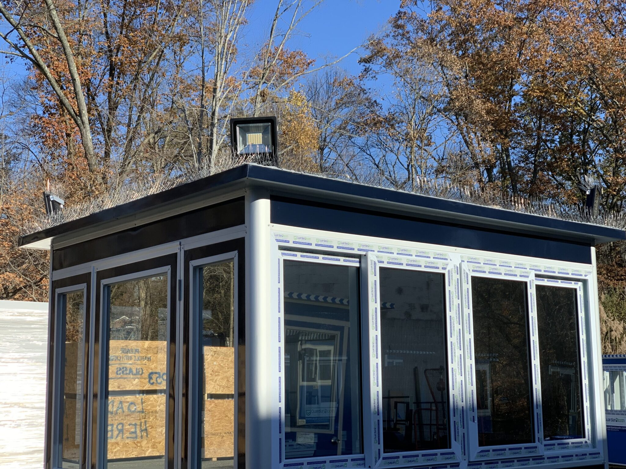 Roof Mounted Outside LED Floodlights, 6x8 Entrance Gate Booth in Elkridge MD 1