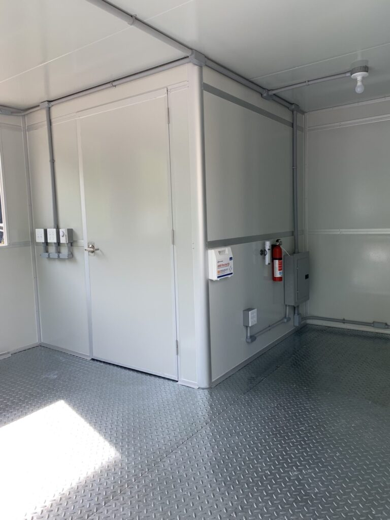 Safety Package, 11x17 Modular Office Booth in Akron, NY
