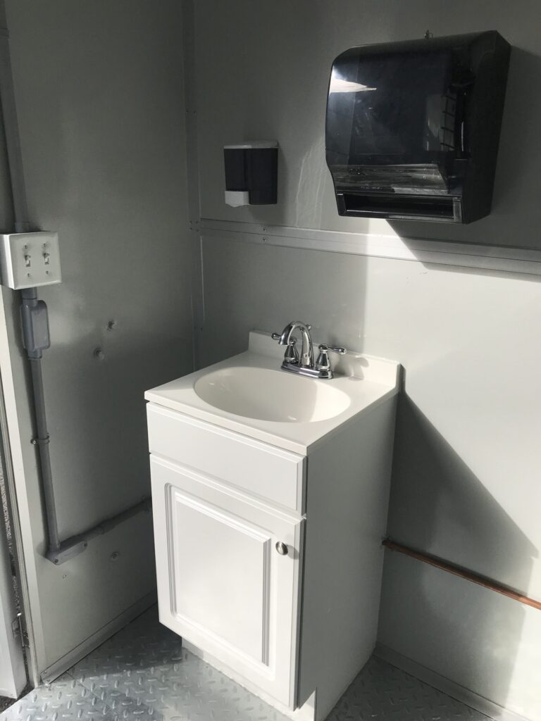 Sink and Soap and Paper Towel Dispenser, 6x8 Airport Security Booth in Carolina, PR