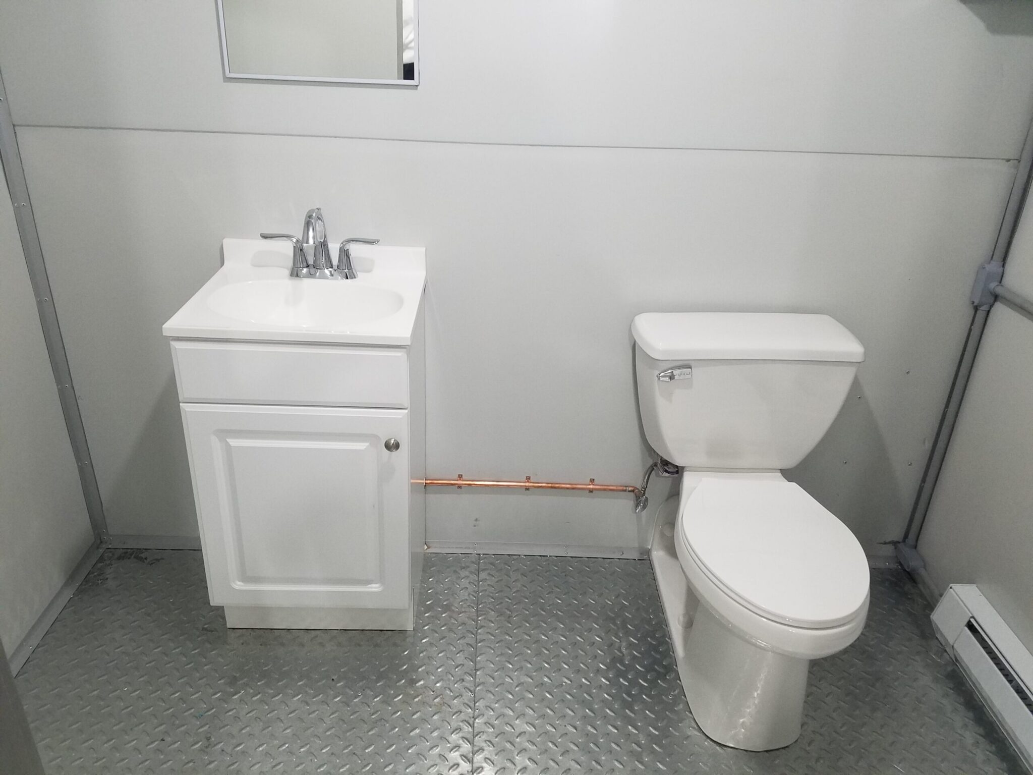 Sink and Toilet, 8x12 General Security Guard Booth in Boston, MA