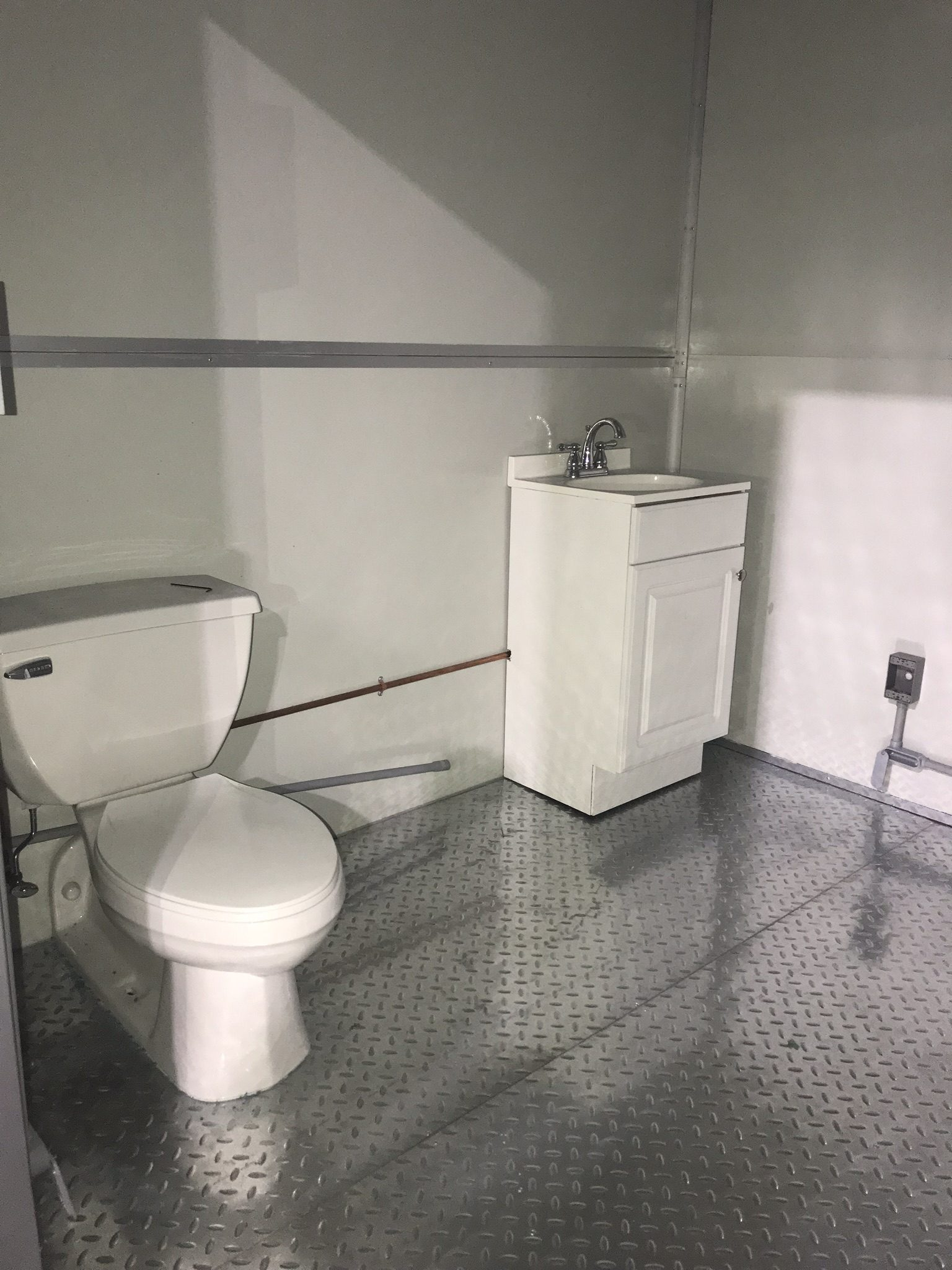 Sink and Toilet, 8x16 Modular Office in Panama City, FL