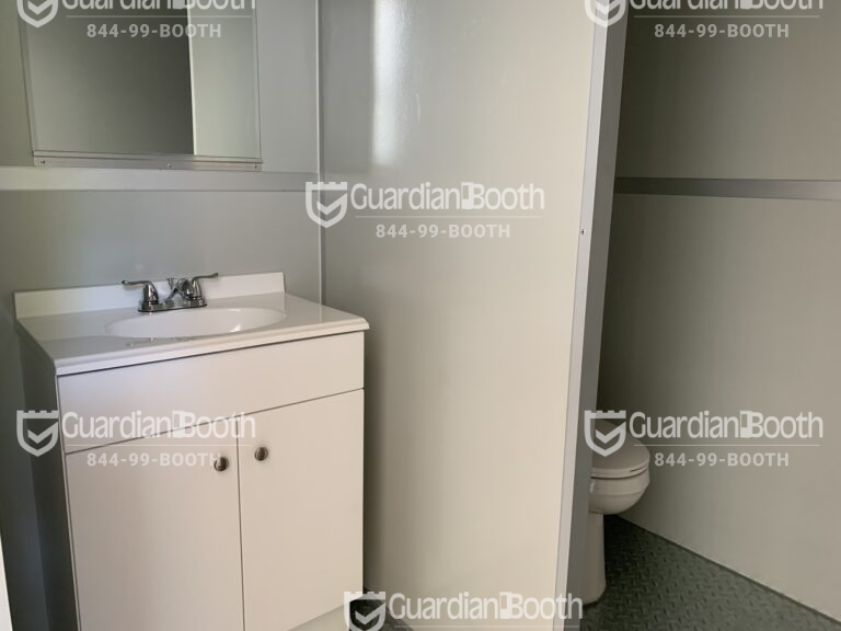 Sink and Toilet, 8x17 General Security Booth, in Lynchburg, VA