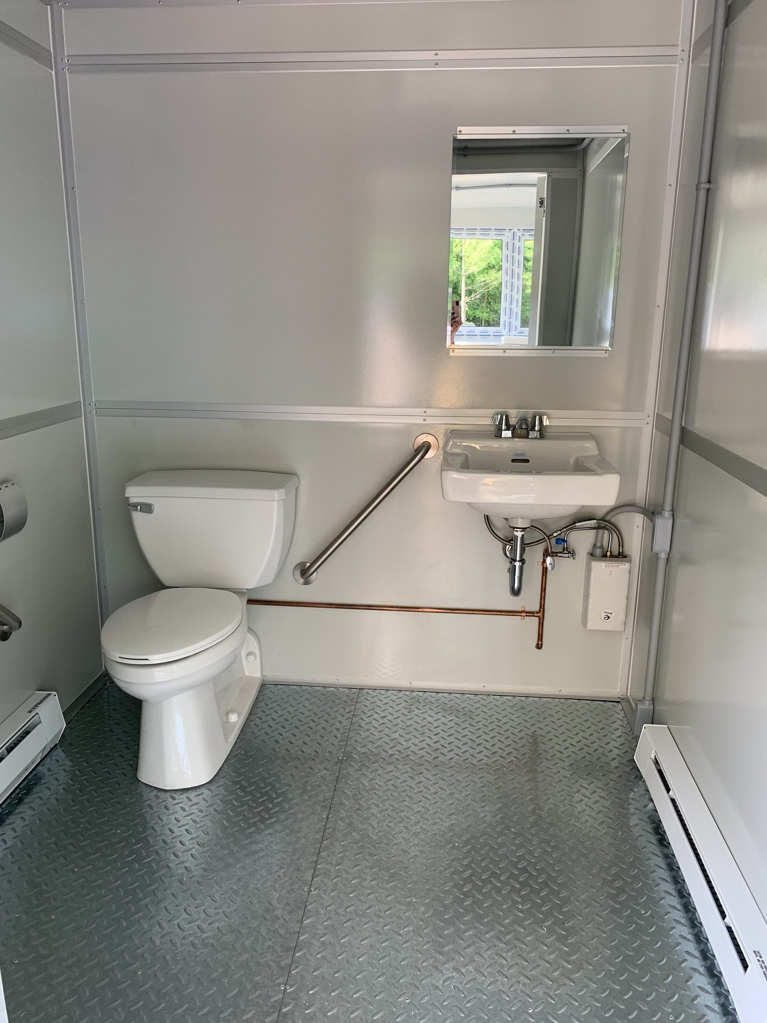 Sink and Toilet and ADA Handrail, 8x10 Modular Office Booth in Shippensburg, PA