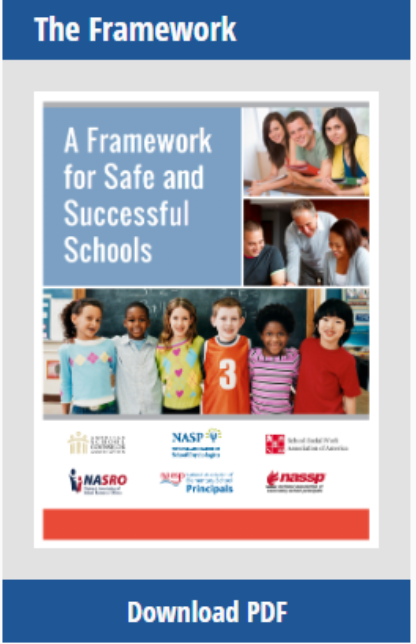 Booklet titled A Framework for Safe and Successful Schools