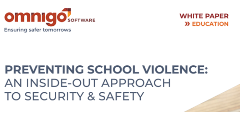 Heading of a white paper on Preventing School Violence