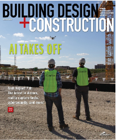 Magazine cover for Building Design + Construction