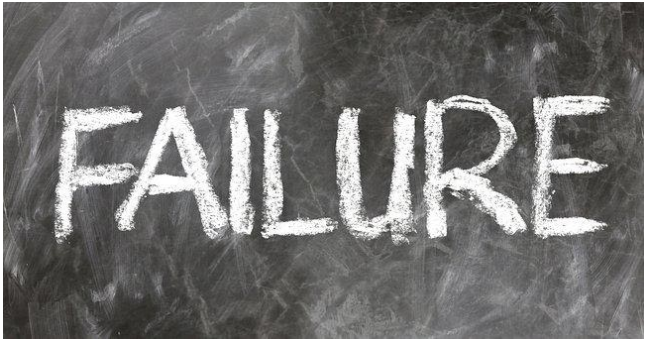The word Failure on a chalkboard