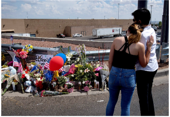 Memorial to commemorate the victims of the El Paso shooting, August 3, 2019