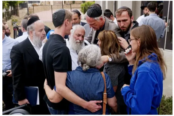 survivors of the Poway synagogue shooting, April 27, 2019