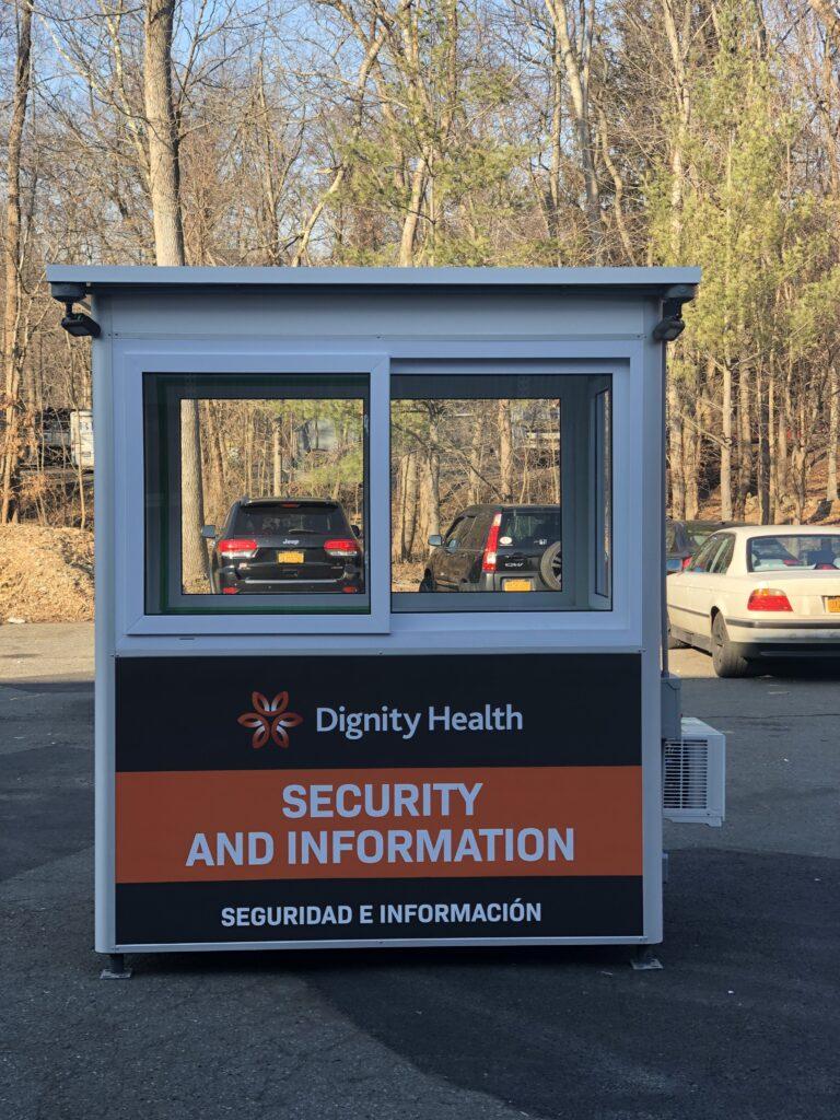 Custom Logo, 4x6 Hospital Security Booth in San Luis Obispo, CA