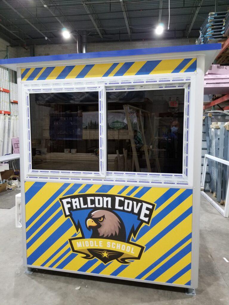Custom Logo, 4x6 School Security Booth in Weston, FL